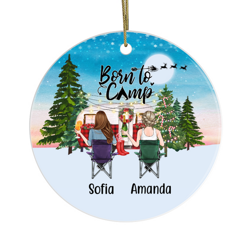 Personalized Ornament,Two Camping Women Custom Gift For Christmas