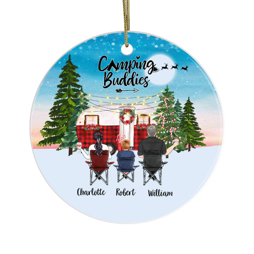 Personalized Ornament, Camping Family Christmas Custom Gift For Camping Lovers