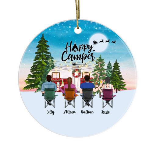 Personalized Ornament, Camping Couples