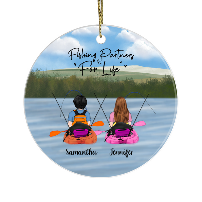Personalized Ornament - Kayak Fishing Partners Two Woman Gift For Fishing Friends