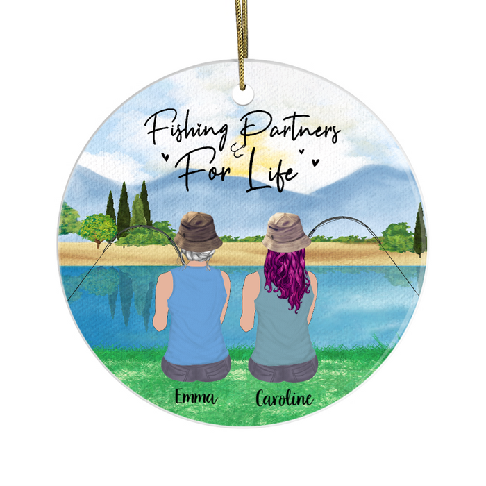 Personalized Ornament - Fishing Girls Custom Christmas Gift For Fishing Lovers