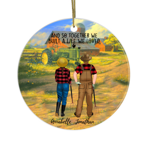 Personalized Ornament - Farmer Couple Standing Gift For Christmas Farming Lovers