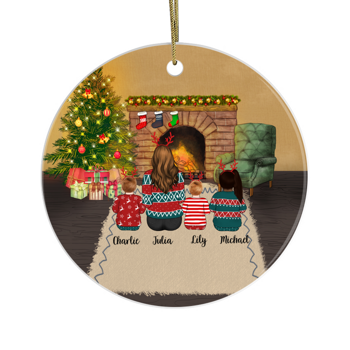 Personalized Ornament - Woman And Kids Custom Gift For Christmas