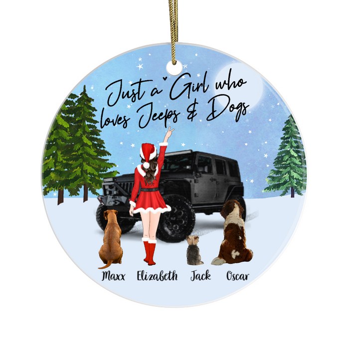 Personalized Ornament - Car and Dog Kind Of Girl Custom Gift For Christmas