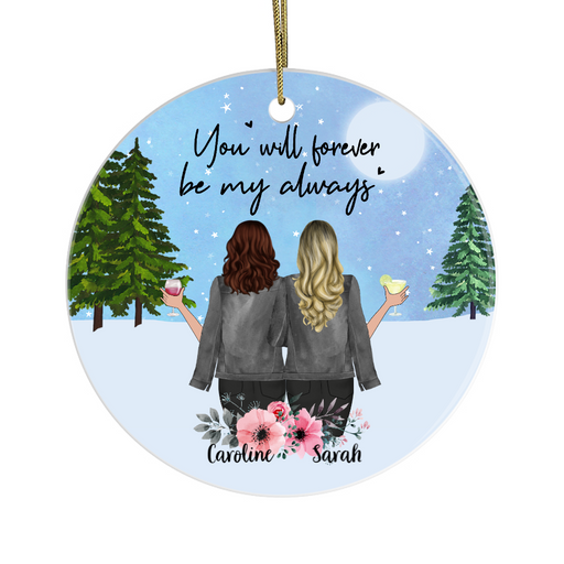 Personalized Ornament - Christmas Sisters Custom Gift For Sisters Best Friends