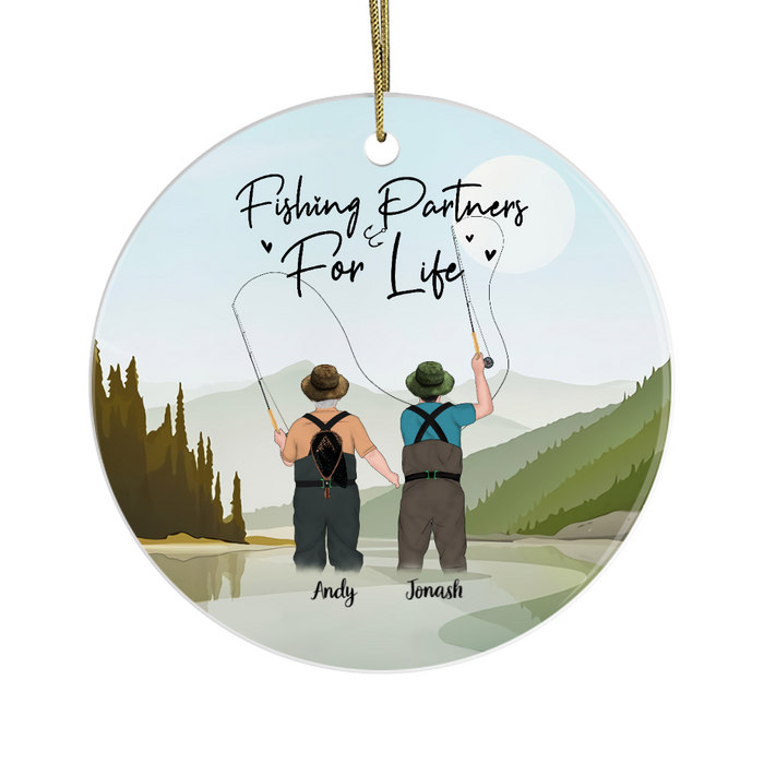 Personalized Ornament - Fly fishing Father And Son Christmas Custom Gift For Father
