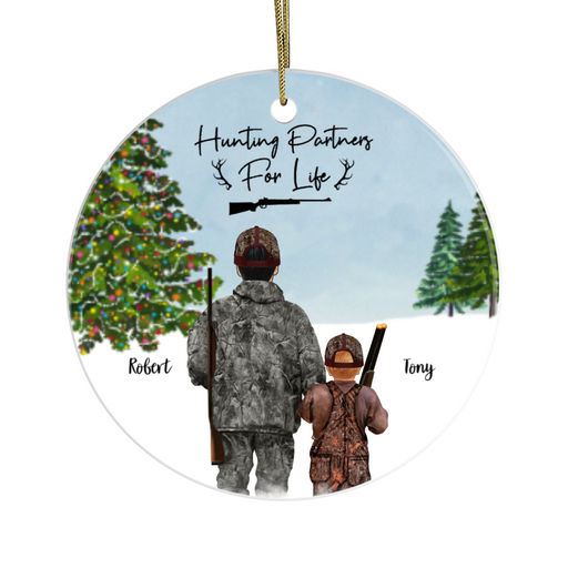 Personalized Ornament - Hunting Partners Christmas Custom Gift For Family and Friends