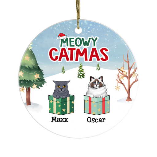 Personalized Ornament - Meowy Catmas Custom Christmas Gift For Cats Lover