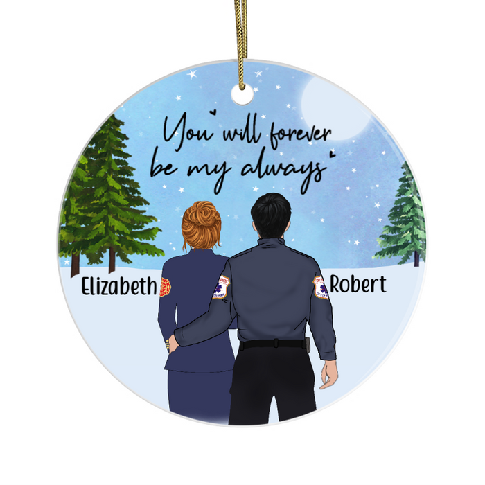 Personalized Ornament - First Responder Couple Custom Gift For Christmas