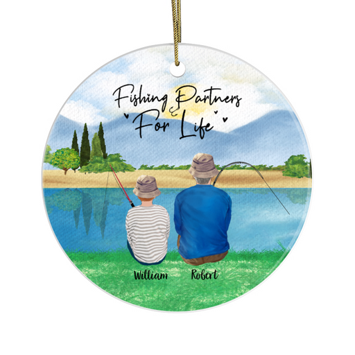 Personalized Ornament - Fishing Partners Christmas Custom Gift For Family and Friends