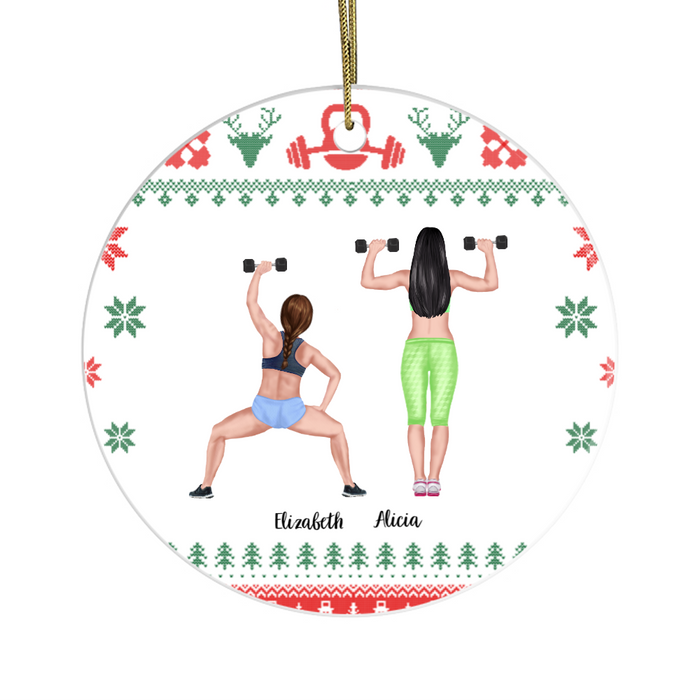 Personalized Ornament - Gym Sisters Christmas Custom Gift For Workout Lovers