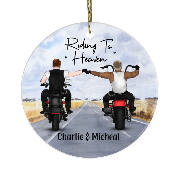Personalized Ornament, Riding To Heaven Partners Custom Gift For Motorbike Lovers