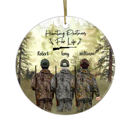 Personalized Ornament - Three Men Hunting Partners Christmas Custom Gift For Family and Friends