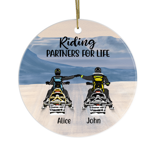 Personalized Ornament - Snowmobiling Partners Custom Gifts For Snowmobile Lovers
