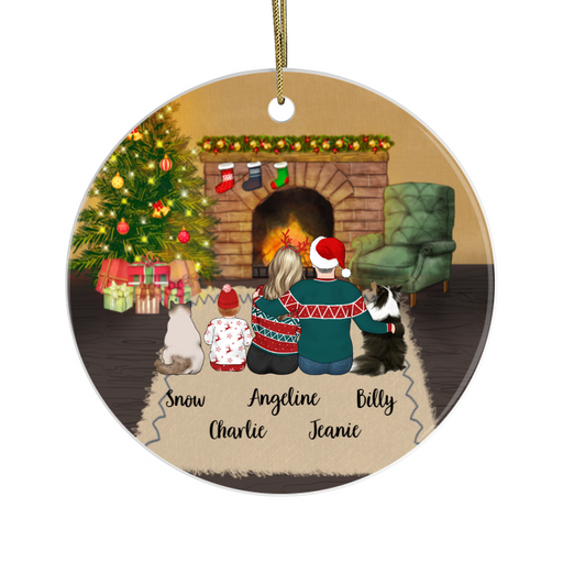 Personalized Ornament - Couple, Kid, Dog, Cat Custom Gift For Christmas