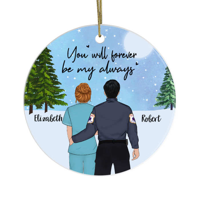 Personalized Ornament, EMS Couple Custom Gift For Christmas