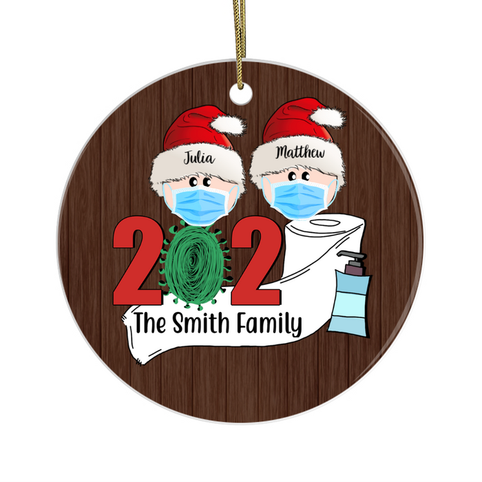 Personalized Ornament - 2020 Facemask Couple Custom Gift For Christmas