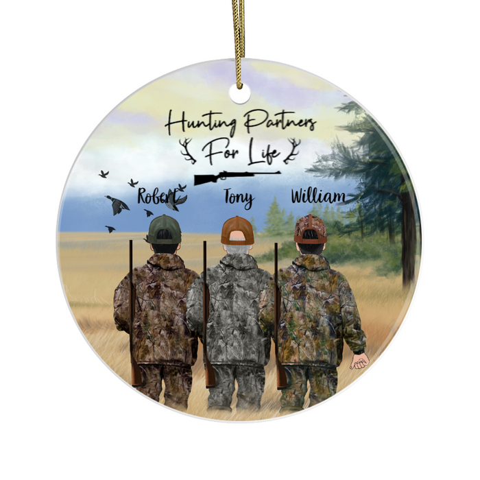 Personalized Ornament - Three Duck Hunting Men Partners Christmas Custom Gift For Family and Friends