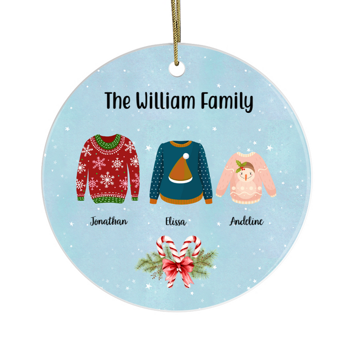 Personalized Ornament - Ugly Sweater Family Custom Gift For Christmas