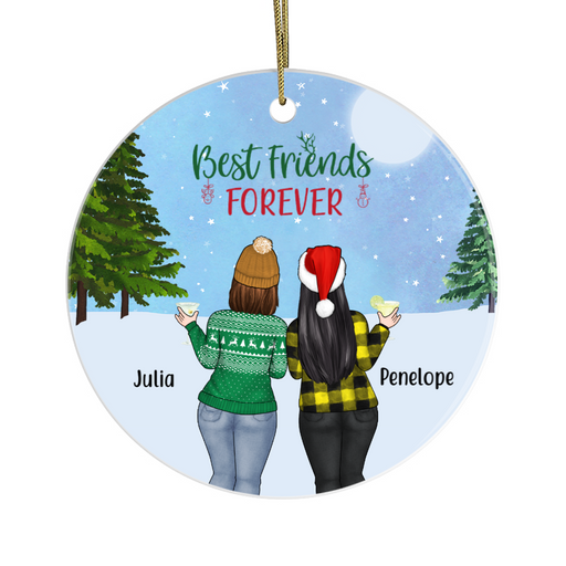 Personalized Ornament - Chubby Sisters Christmas Custom Gift For Curvy Best Friends