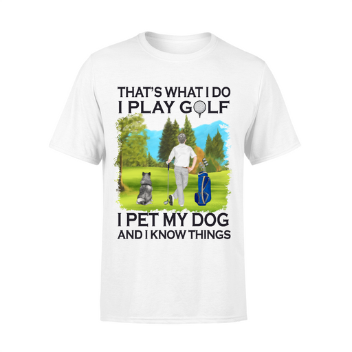 Personalized Shirt, Golf Single Man with Dogs Custom Gifts For Dog and Golf Lovers