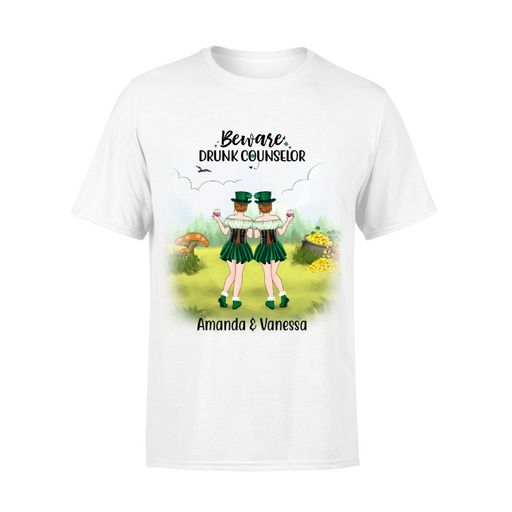 Personalized Shirt- St Patrick's Day Girls Custom Gift For Sisters Best Friends