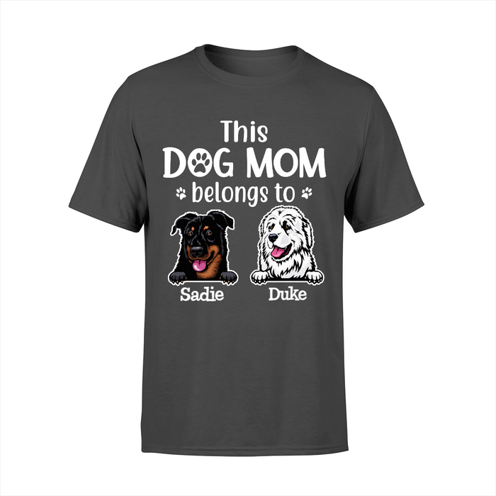 Personalized Shirt - Dog Mom Custom Gift For Dogs Lover