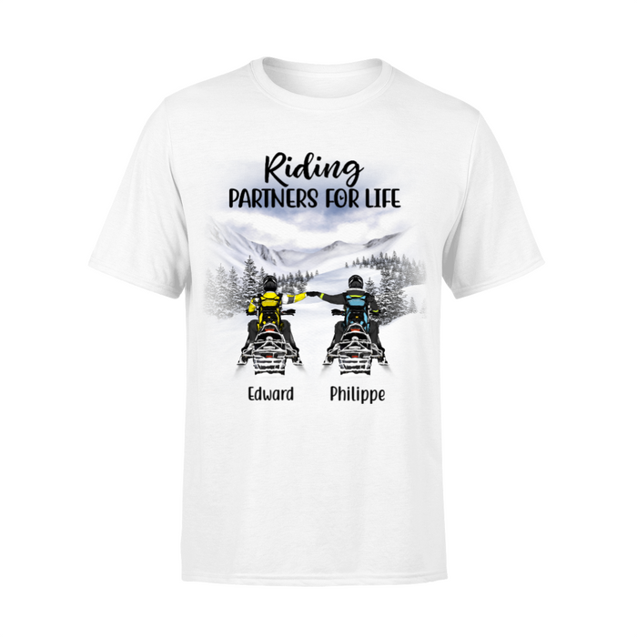 Personalized Shirt - Snowmobiling Partners Custom Gift For Snowmobile Lovers