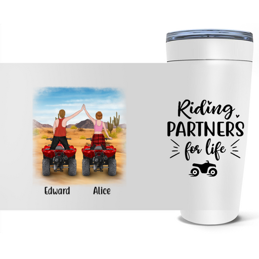 Personalized Tumbler - All Terrain Vehicle Partners Custom Gifts For ATV Quad Bike Lovers