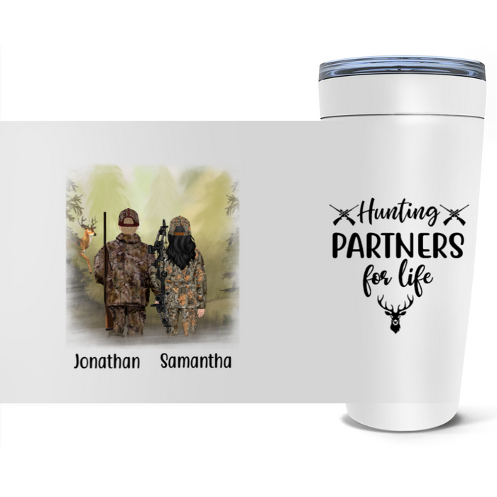 Personalized Tumbler, Hunting Partners Custom Hunter Gifts For Hunters