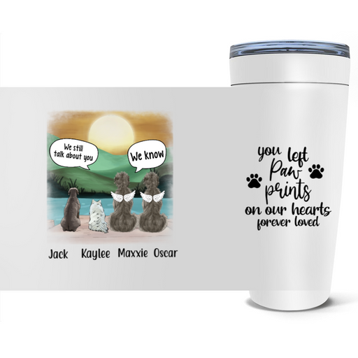Personalized Tumbler - Memorial Dogs In Conversation Gift For Dogs Lovers