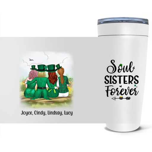 Personalized Tumbler - St Patrick's Day Sisters Custom Gift For Sisters And Friends