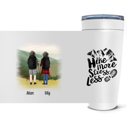 Personalized Tumbler, Hiking Partners Custom Gift For Trekking Camping Lovers