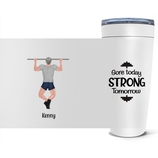 Personalized Tumbler, Gym Man Custom Gift For Work Out Lovers