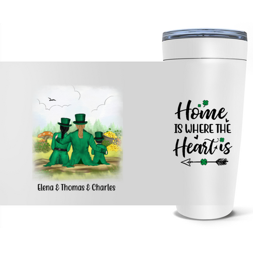Personalized Tumbler - St Patrick Day Parents And Kids Custom Gifts For Family