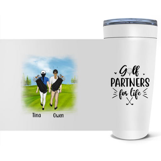Personalized Tumbler - Golfing Partners Custom Gift For Golf Lovers