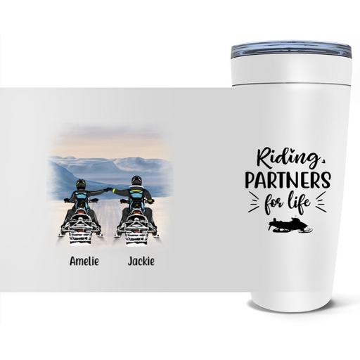 Personalized Tumbler - Snowmobiling Partners Custom Gift For Snowmobile Lovers
