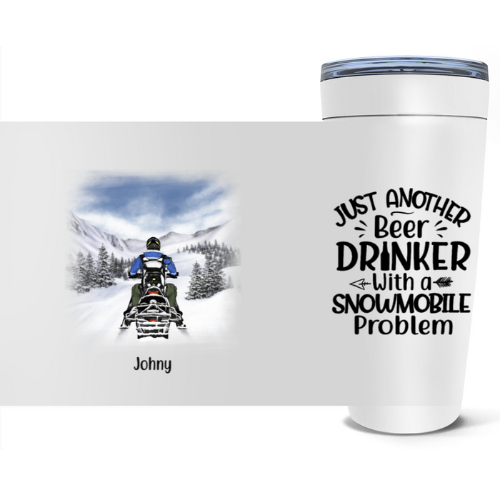 Personalized Tumbler, Snowmobiling Solo Custom Gift For Snowmobile Lovers
