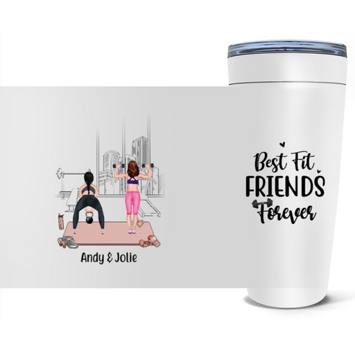 Personalized Tumbler, Workout Sisters Custom Gift For Gym Lovers