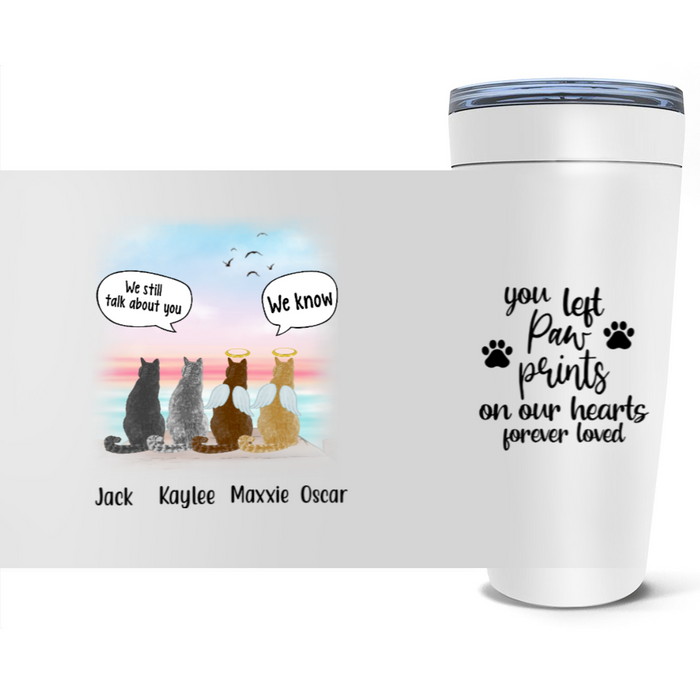Personalized Tumbler, Memorial Cats In Conversation Gift For Cat Lovers