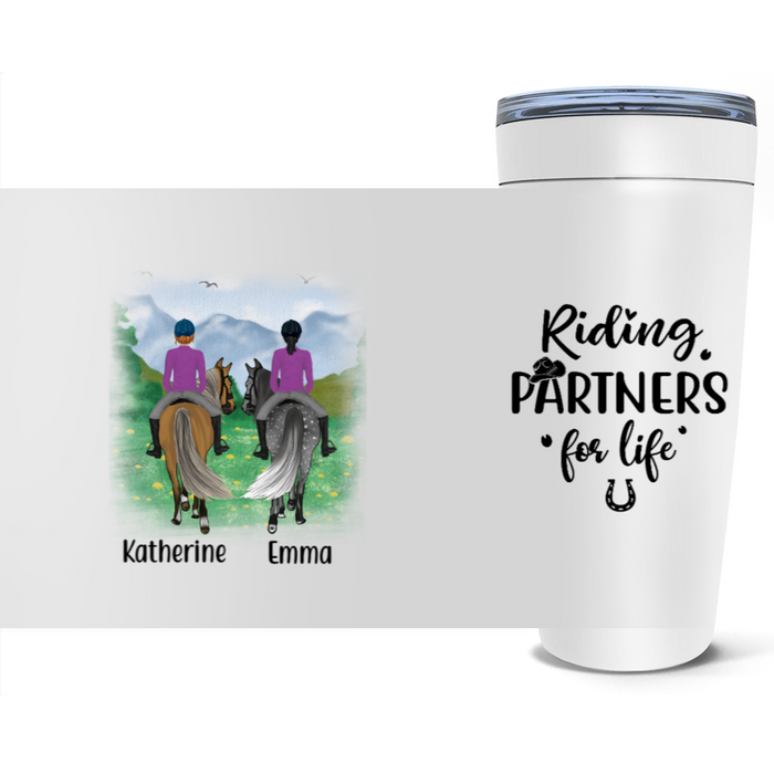 Personalized Tumbler, Horse Riding Partners Custom Gift For Horses Lovers