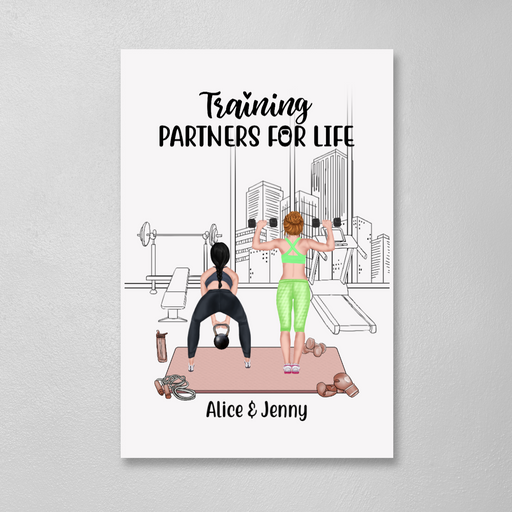 Personalized Canvas/Poster, Workout Sisters Custom Gift For Gym Lovers