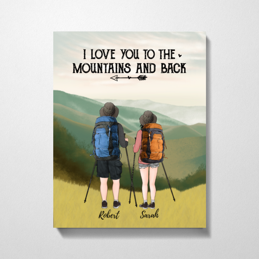 Custom Hiking Partners Premium Canvas Personalized Gift For Couple and Friends
