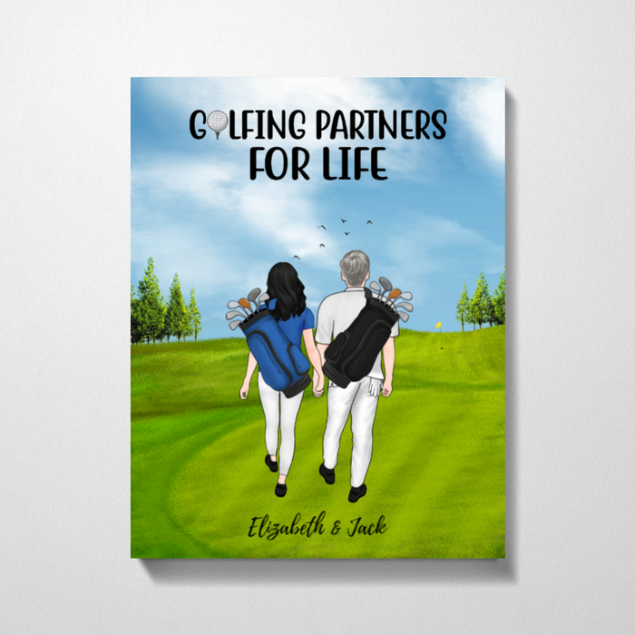 Personalized Premium Canvas - Golf Couple Gift for Golf Lovers