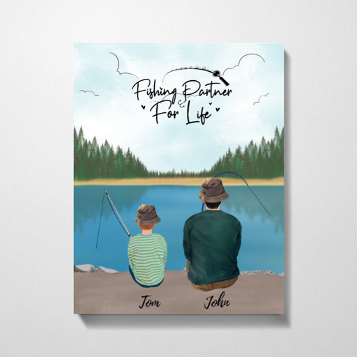 Fishing Family Fishing Partners For Life Canvas