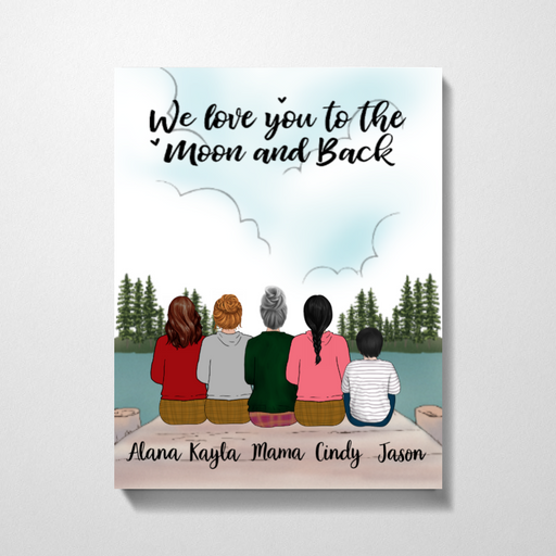 Personalized Premium Canvas - Mother, Daughters and Kid Gift For Mother's Day