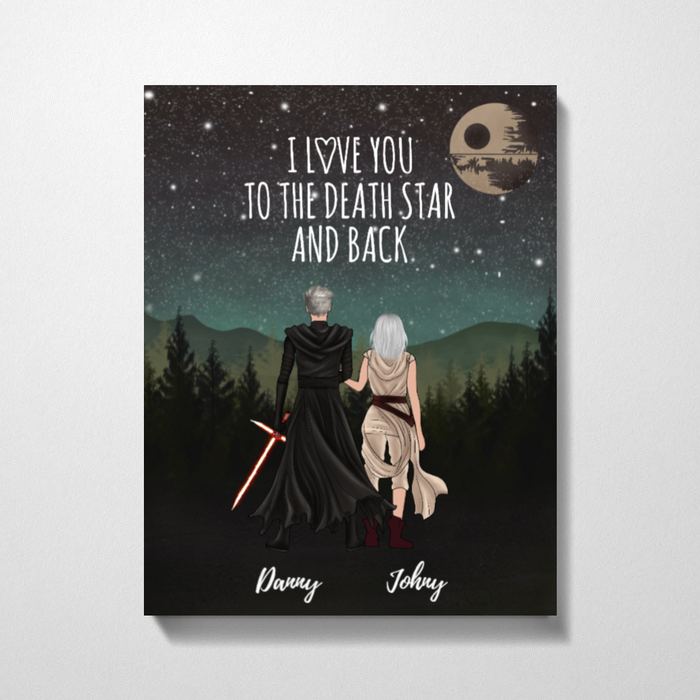 Custom Love To The Death Star Personalized Premium Canvas Gifts For Lovers