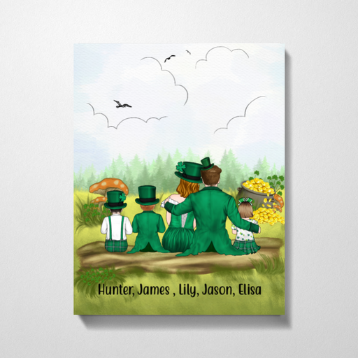Personalized Canvas - St Patrick's Day Parents And Kids Custom Gift For Family