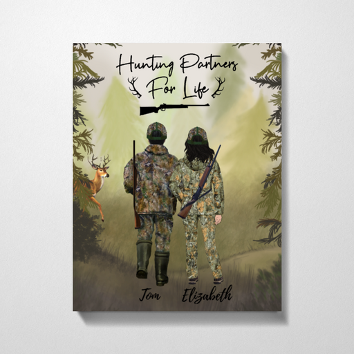 Custom Deer Family Hunting Canvas Personalized Gift for Hunters
