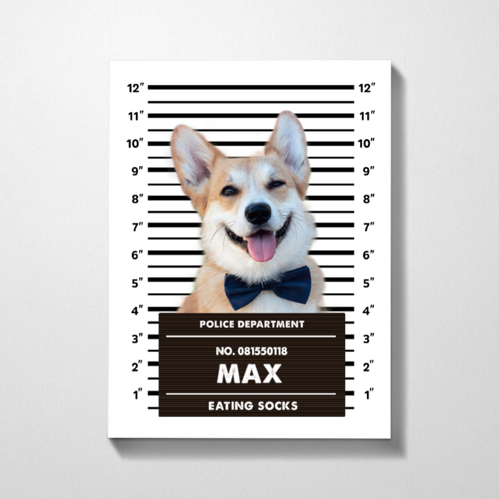 Custom Pet Mugshot Premium Canvas